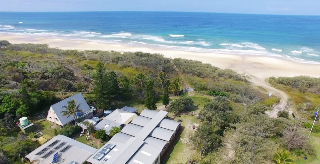 Glamping accommodation on Fraser Island