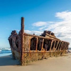 Fraser Island Beachcamp Maheno Shipwreck