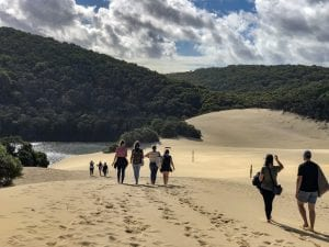 on the fraser island great walk; Lake Wabby