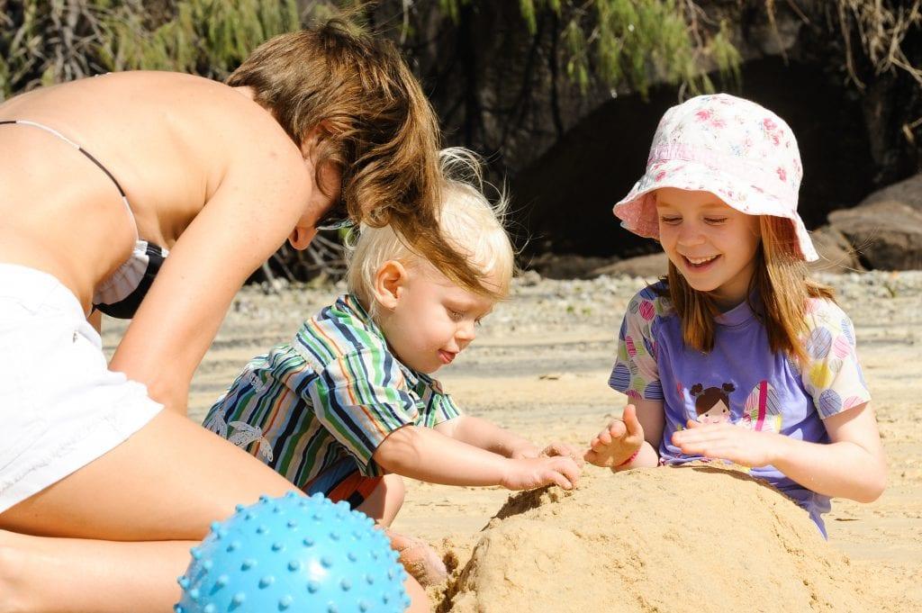 Family on Fraser Island